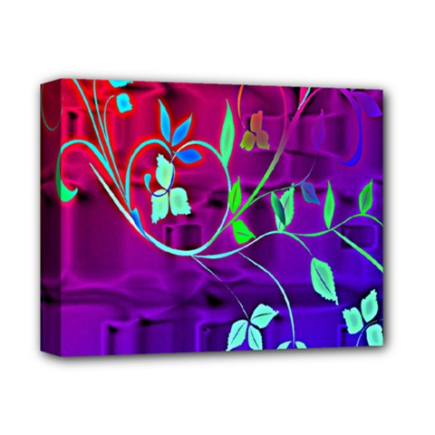 Floral Colorful Deluxe Canvas 14  X 11  (framed)