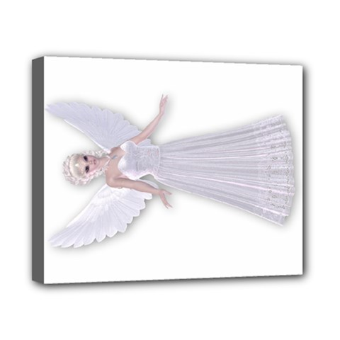 White Faerie Nymph Fairy Canvas 10  X 8  (framed) by goldenjackal