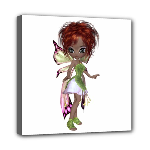 Fairy Magic Faerie In A Dress Mini Canvas 8  X 8  (framed) by goldenjackal