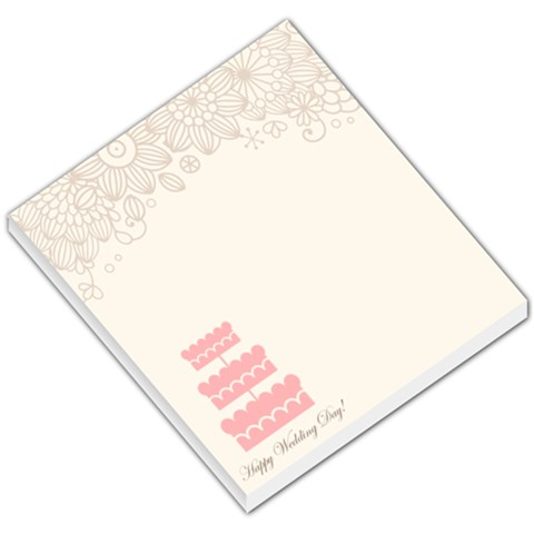 Wedding By Paula Green   Small Memo Pads   Gyugd8ccrf6w   Www Artscow Com
