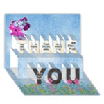 Spring Thank You 3D - THANK YOU 3D Greeting Card (7x5)