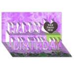 Miss Ladybugs Garden Birthday 3D - Happy Birthday 3D Greeting Card (8x4)