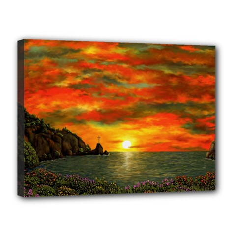 Alyssa s Sunset By Ave Hurley Artrevu   Canvas 16  X 12  (stretched) by ArtRave2