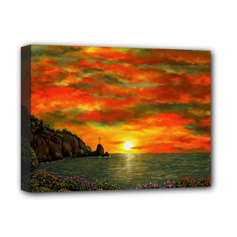 Alyssa s Sunset By Ave Hurley Artrevu   Deluxe Canvas 16  X 12  (stretched)  by ArtRave2