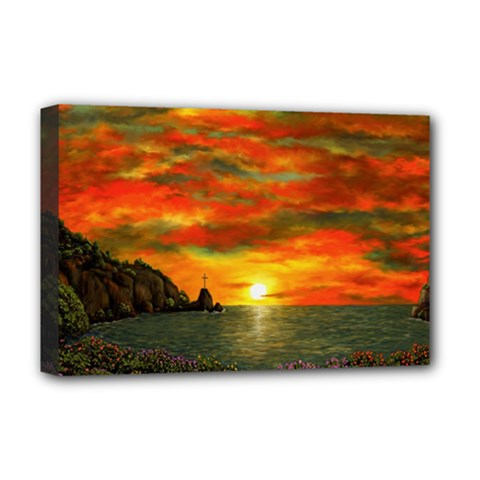 Alyssa s Sunset By Ave Hurley Artrevu   Deluxe Canvas 18  X 12  (stretched) by ArtRave2