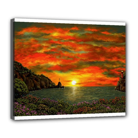 Alyssa s Sunset By Ave Hurley Artrevu   Deluxe Canvas 24  X 20  (stretched) by ArtRave2