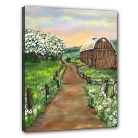 Amish Apple Blossoms  by Ave Hurley of ArtRevu ~ Canvas 20  x 16  (Stretched) by ArtRave2