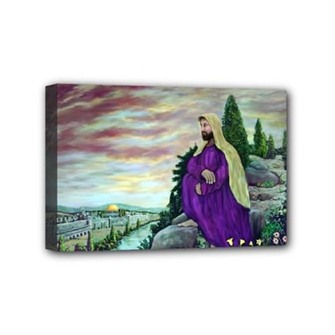 Jesus Overlooking Jerusalem   Ave Hurley   Artrave   Mini Canvas 6  X 4  (framed) by ArtRave2