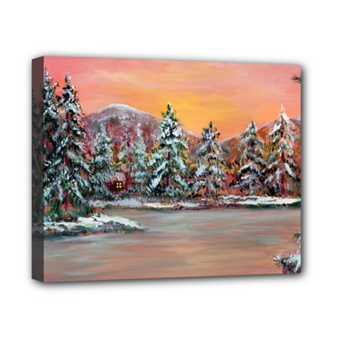 jane s Winter Sunset   By Ave Hurley Of Artrevu   Canvas 10  X 8  (stretched) by ArtRave2
