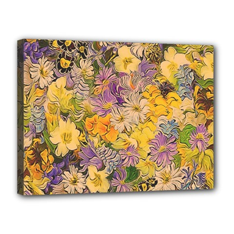 Spring Flowers Effect Canvas 16  x 12  (Framed) by ImpressiveMoments