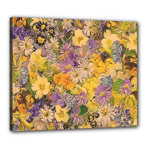 Spring Flowers Effect Canvas 24  X 20  (framed) by ImpressiveMoments