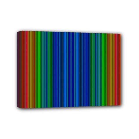 Strips Mini Canvas 7  X 5  (framed) by Siebenhuehner