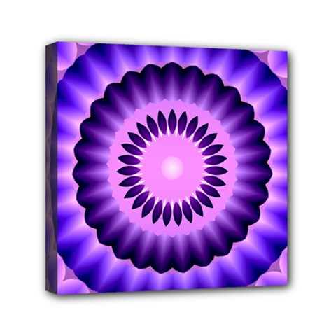 Mandala Mini Canvas 6  X 6  (framed) by Siebenhuehner