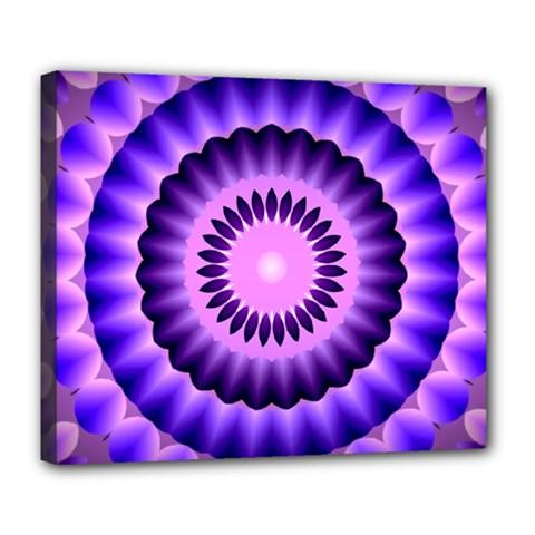 Mandala Deluxe Canvas 24  X 20  (framed) by Siebenhuehner