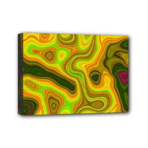 Abstract Mini Canvas 7  X 5  (framed) by Siebenhuehner