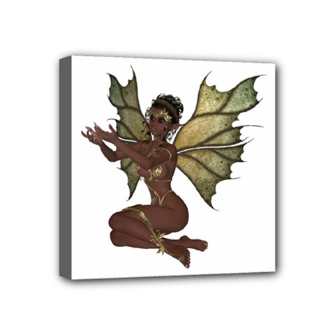 Faerie Nymph Fairy With Outreaching Hands Mini Canvas 4  X 4  (framed) by goldenjackal