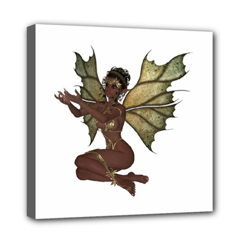 Faerie Nymph Fairy With Outreaching Hands Mini Canvas 8  X 8  (framed) by goldenjackal