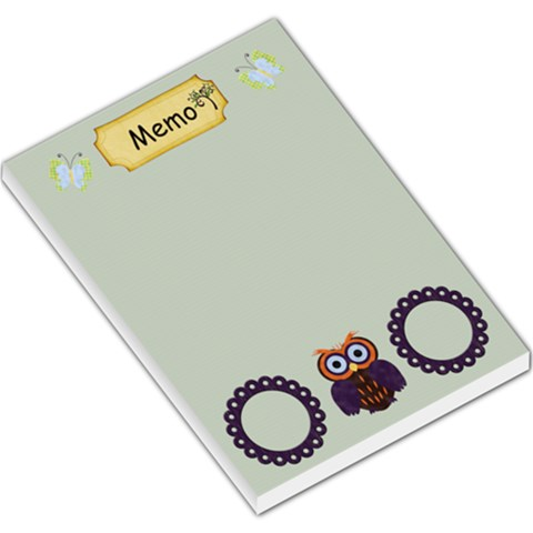 Owl Memo By Cherish Collages   Large Memo Pads   P44k12bab8e4   Www Artscow Com