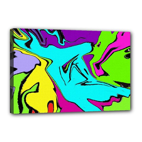 Abstract Canvas 18  X 12  (framed) by Siebenhuehner