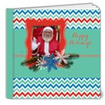 Chevron Christmas-Holiday Photo Book 8x8 Deluxe - 8x8 Deluxe Photo Book (20 pages)