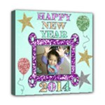 new year canvas 8x8 - Mini Canvas 8  x 8  (Stretched)