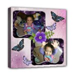 Purple butterfly canvas 8x8 - Mini Canvas 8  x 8  (Stretched)
