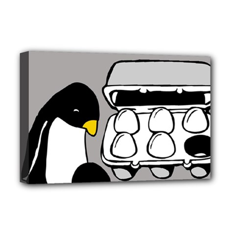 Egg Box Linux Deluxe Canvas 18  X 12  (framed) by youshidesign