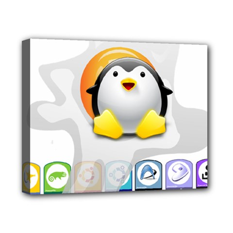 Linux Versions Canvas 10  X 8  (framed) by youshidesign