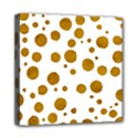Tan Polka Dots Mini Canvas 8  x 8  (Framed) View1