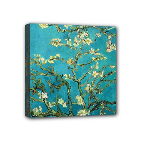 Vincent Van Gogh Blossoming Almond Tree Mini Canvas 4  X 4  (framed) by MasterpiecesOfArt