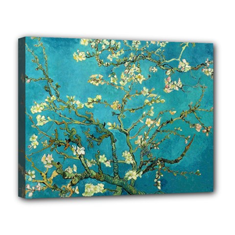 Vincent Van Gogh Blossoming Almond Tree Canvas 14  X 11  (framed) by MasterpiecesOfArt