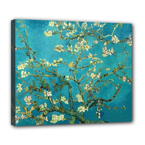 Vincent Van Gogh Blossoming Almond Tree Deluxe Canvas 24  X 20  (framed)
