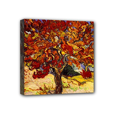 Vincent Van Gogh Mulberry Tree Mini Canvas 4  X 4  (framed) by MasterpiecesOfArt