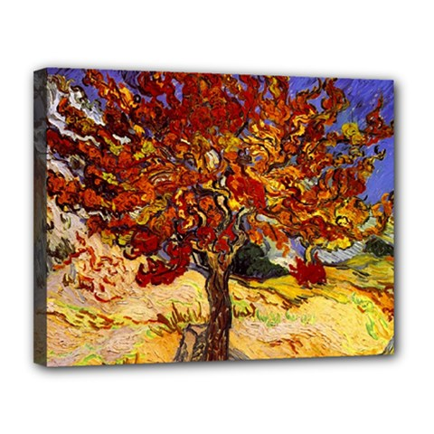 Vincent Van Gogh Mulberry Tree Canvas 14  X 11  (framed) by MasterpiecesOfArt