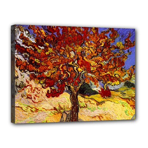 Vincent Van Gogh Mulberry Tree Canvas 16  x 12  (Framed) by MasterpiecesOfArt