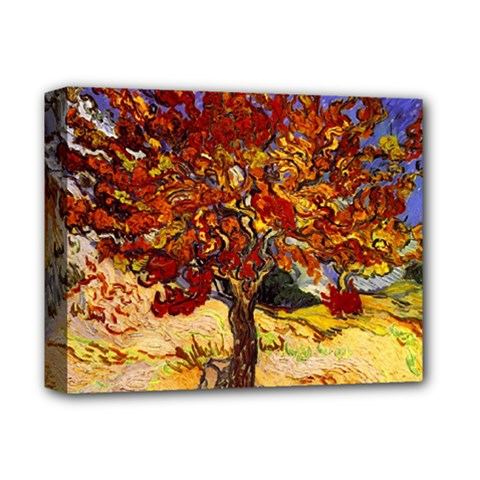 Vincent Van Gogh Mulberry Tree Deluxe Canvas 14  X 11  (framed) by MasterpiecesOfArt