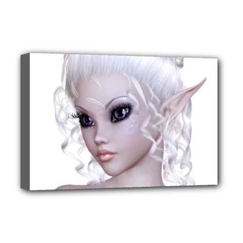 Fairy Elfin Elf Nymph Faerie Deluxe Canvas 18  X 12  (framed) by goldenjackal