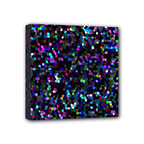 Glitter 1 Mini Canvas 4  X 4  (framed) by MedusArt