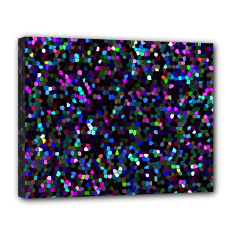 Glitter 1 Canvas 14  X 11  (framed) by MedusArt