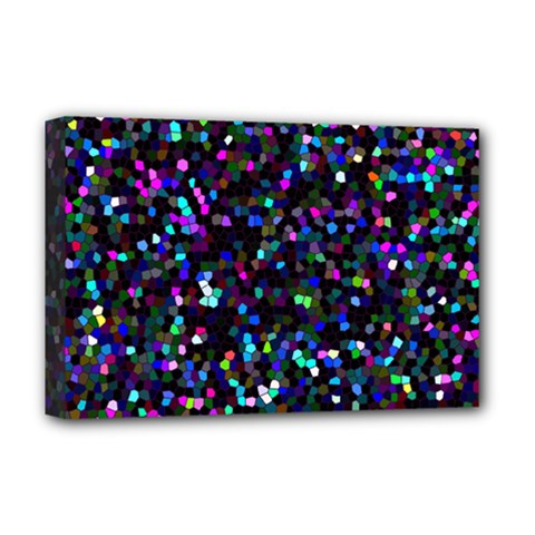 Glitter 1 Deluxe Canvas 18  X 12  (framed) by MedusArt