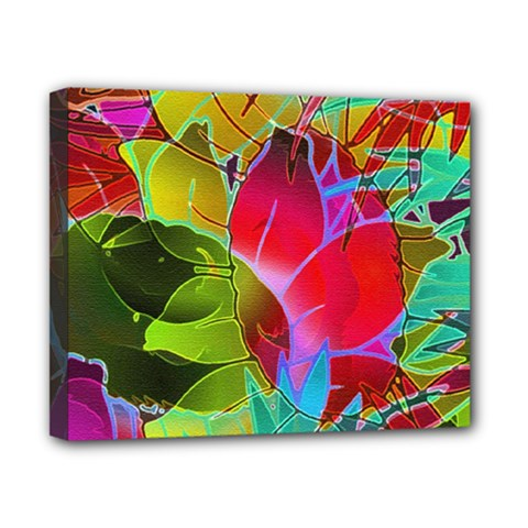 Floral Abstract 1 Canvas 10  X 8  (framed) by MedusArt
