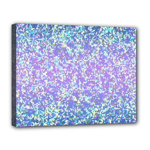 Glitter2 Canvas 14  X 11  (framed) by MedusArt