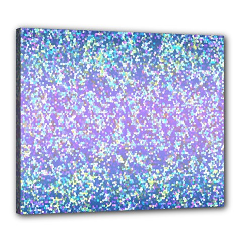 Glitter2 Canvas 24  X 20  (framed) by MedusArt
