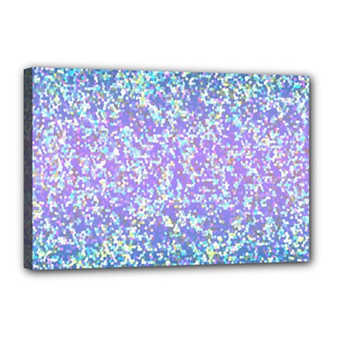Glitter2 Canvas 18  X 12  (framed) by MedusArt