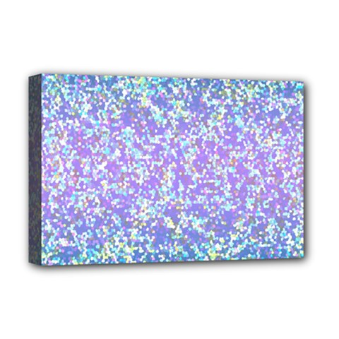 Glitter2 Deluxe Canvas 18  X 12  (framed) by MedusArt