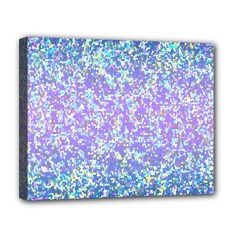 Glitter2 Deluxe Canvas 20  X 16  (framed) by MedusArt