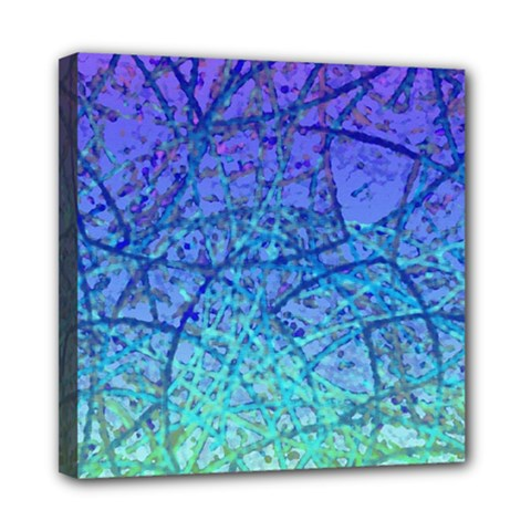 Grunge Art Abstract G57 Mini Canvas 8  X 8  (stretched) by MedusArt