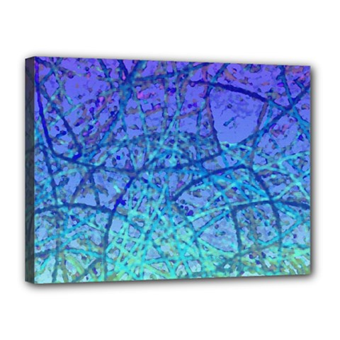 Grunge Art Abstract G57 Canvas 16  X 12  (stretched) by MedusArt