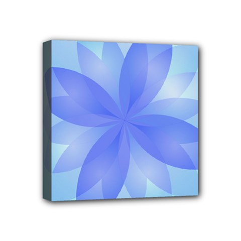 Abstract Lotus Flower 1 Mini Canvas 4  X 4  (framed) by MedusArt