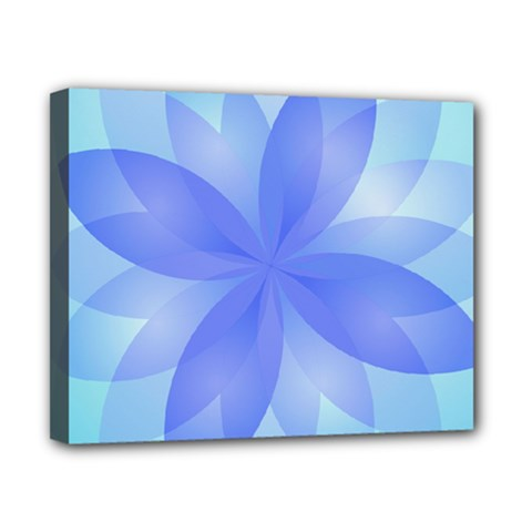 Abstract Lotus Flower 1 Canvas 10  X 8  (framed) by MedusArt